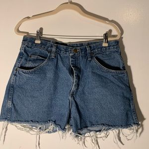 Vintage Wrangler Denim High Waisted Shorts